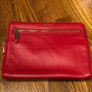 Cole Haan red leather iPad case